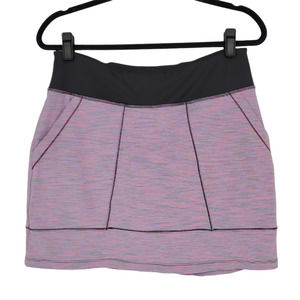 Title Nine Striped Slash Pocket Pink Skort Medium